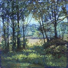 Pastel painting, landscape