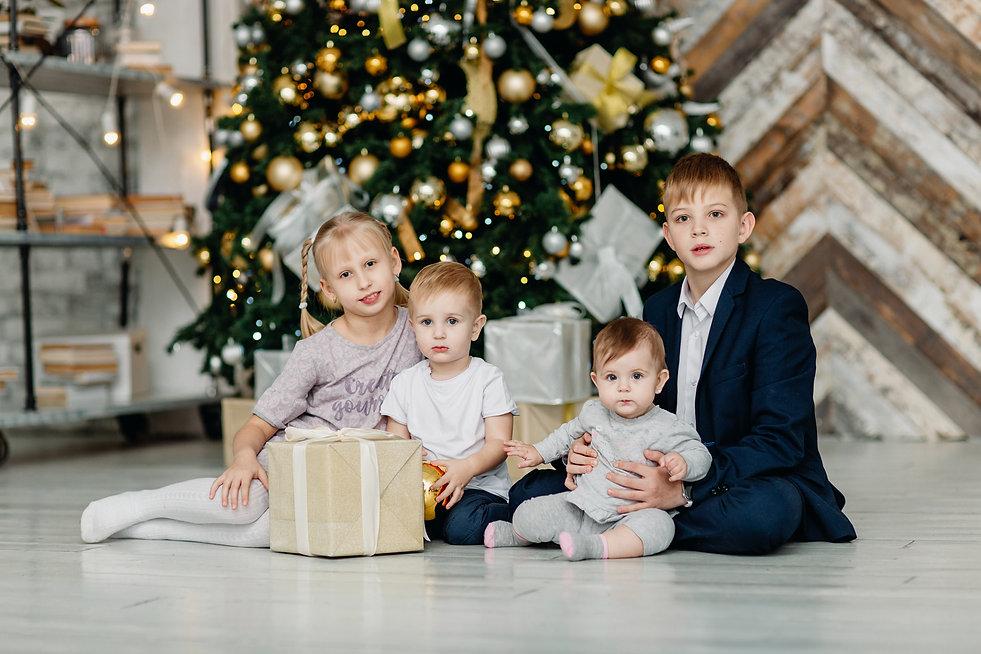 Семейная новгодняя фотосессия Долгопрудный