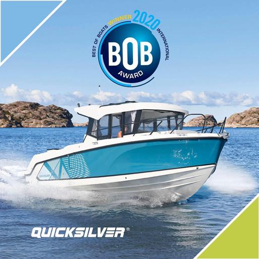 Le nouveau QUICKSILVER 805 Pilothouse remporte le BOB Award 2020 !