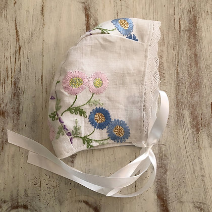 Hand embroidered bonnet
