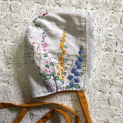 Embroidered garden bonnet