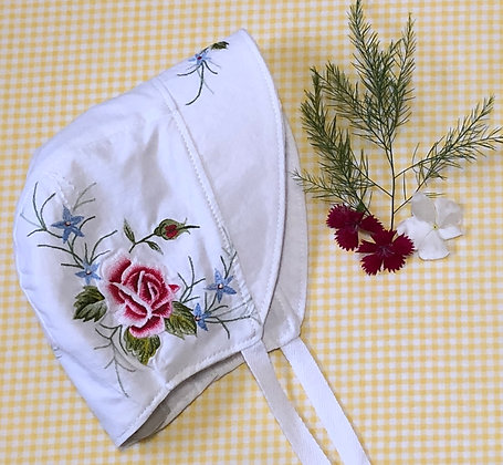 Embroidered sun bonnet