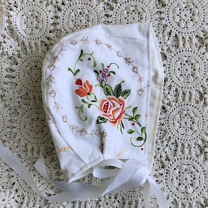 Vintage embroidered bonnet