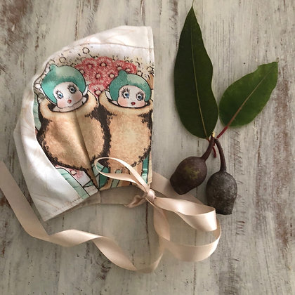 Gumnut baby bonnet