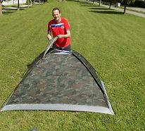 Zeltaufbau in Zug - Lustige Zelte, coole Zelte