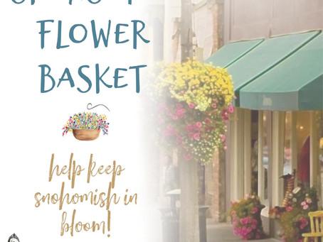 Sponsor a Snohomish Flower Basket