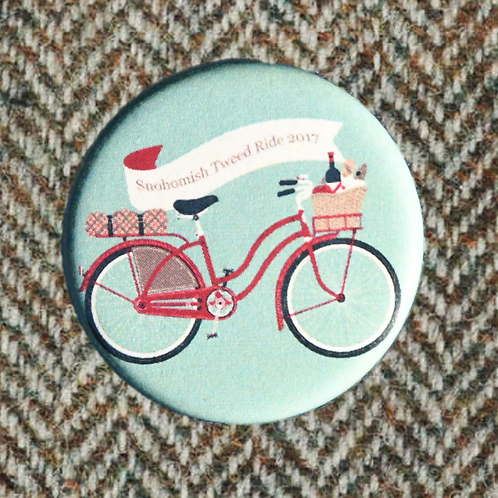 Snohomish Tweed Ride 2017 Button 1