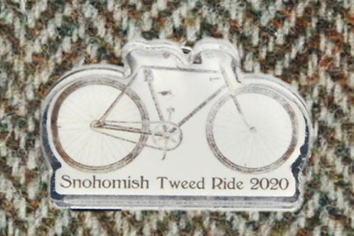 Snohomish Tweed Ride 2020 Acrylic Pin