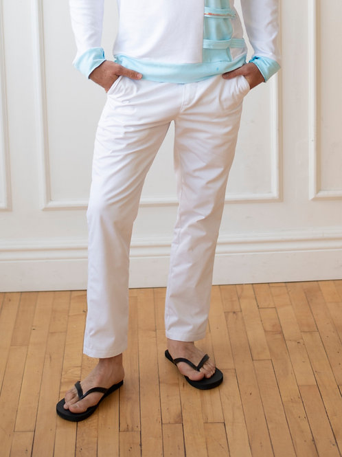 Classic White Chino Pants