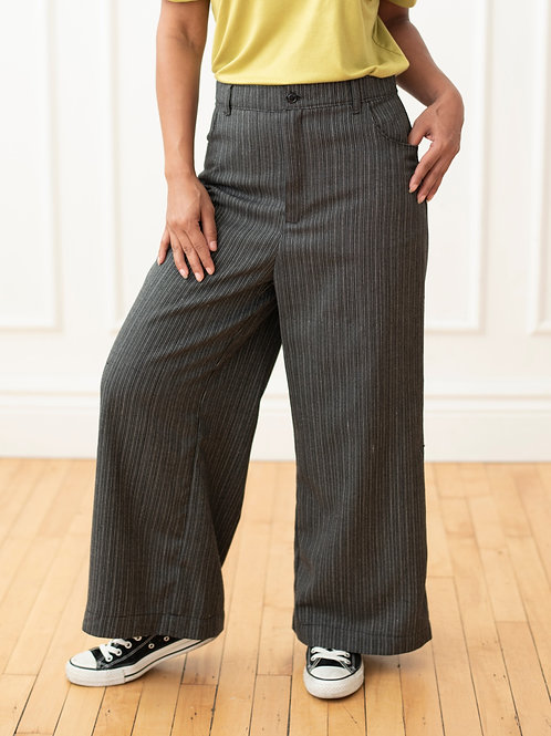Pin Stripe High Waist Wide Leg Pant