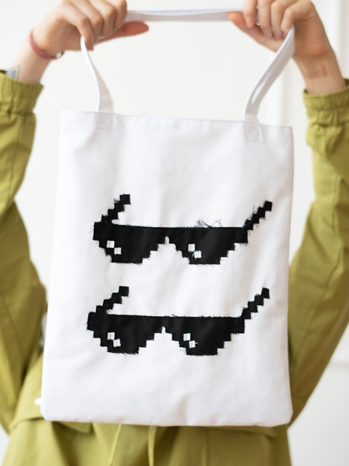 Too Cool Tote Bag with Handmade Patch