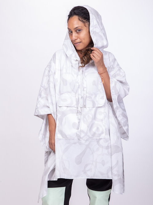 ONE Hand painted Adjustable Poncho