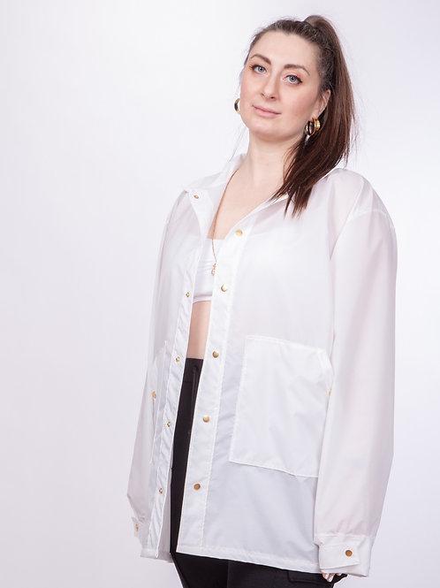 Peekaboo White Ripstop Nylon Jacket