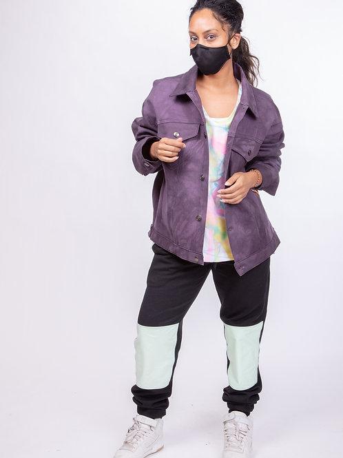 Oversized Hand Dyed Denim Jacket