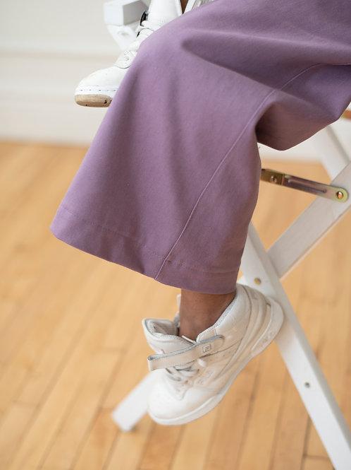 High Waist Wide Leg Lilac Denim Pants
