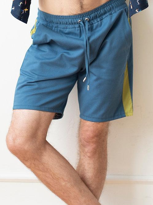 Drawstring Shorts with Stripe
