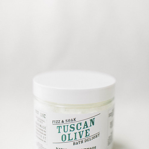 Tuscan Olive Fizz & Soak Bath Delight Jar