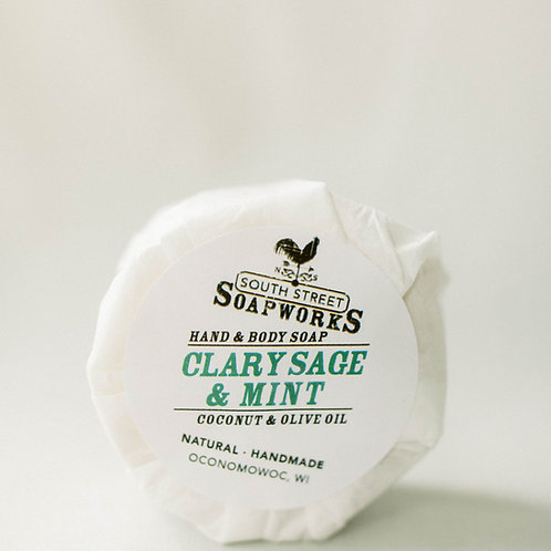 Clary Sage & Mint Hand & Body Soap