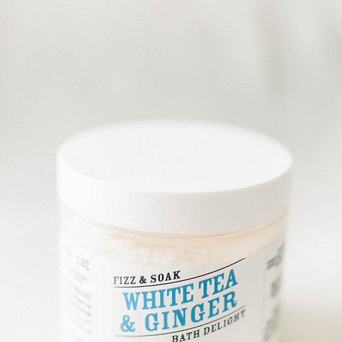 White Tea & Ginger Fizz & Soak Bath Delight Jar