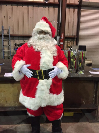 #TBT to when Santa crashed our annual safety meeting and brought us gifts and #chicfilabiscuits #saf