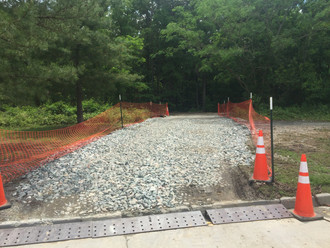 Building an access way for our bridge repair project in Richmond.