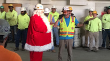 Santa came to visit us for our annual safety meeting and award presentation.