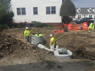 Tremendous progress is being made at a Bridge street project in Hampton, VA.