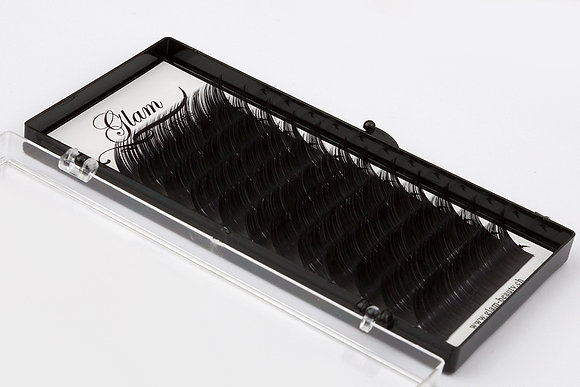 GLAM Lashes Extension · 8-13mm · 0.07mm · C-curl · Silk