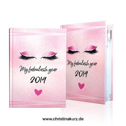 My Fabulash Year 2019 – Terminkalender – Pink
