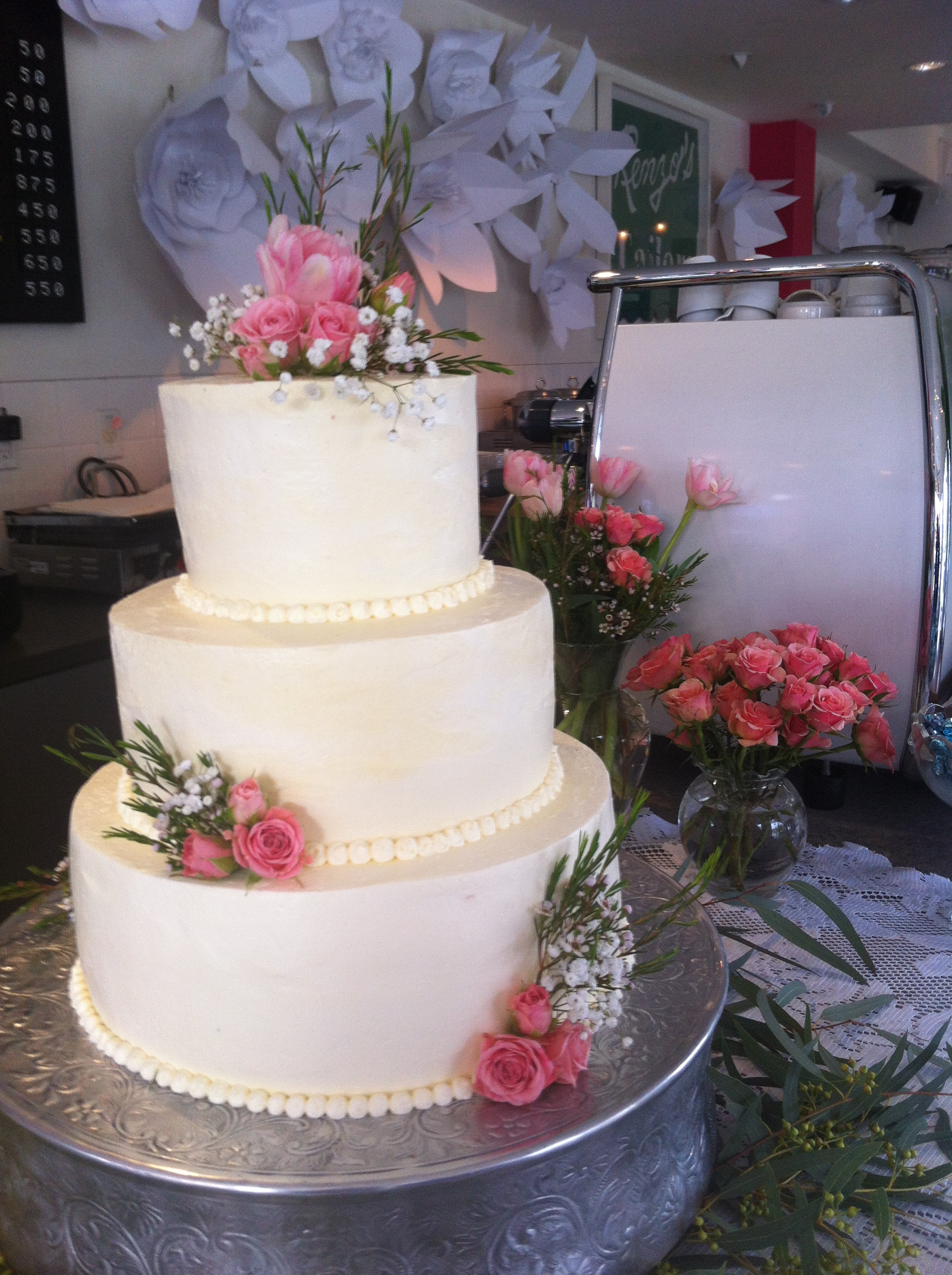 Fresh Flowers and Buttercream