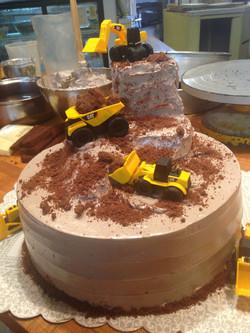 Chocolate Construction Kids Cake