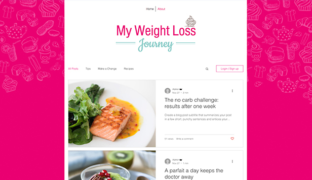 Lifestyle template – Blog sul viver sano