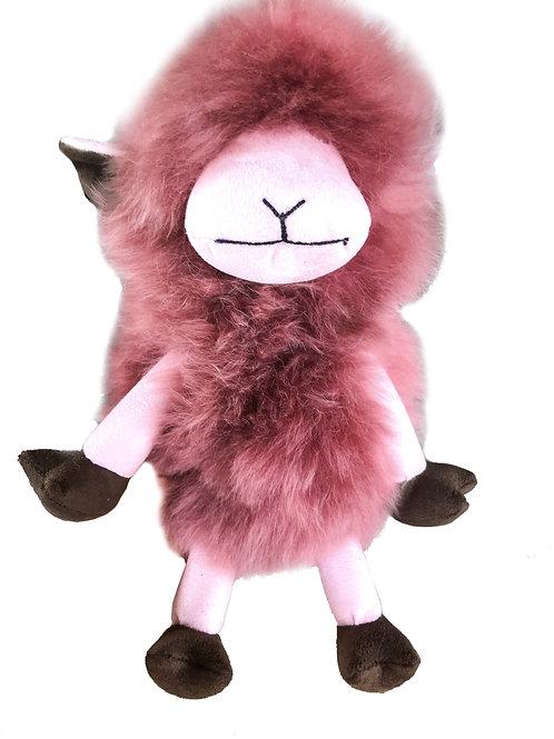 Sheep with rose suede alpaca fur