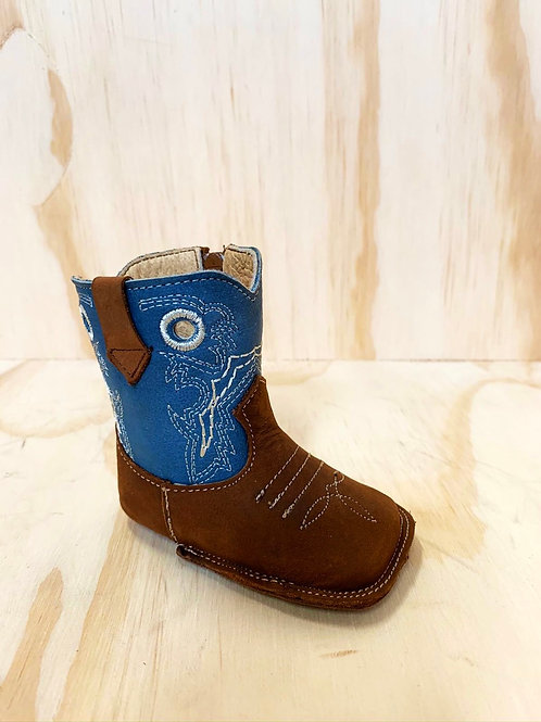 Poke leather baby boots