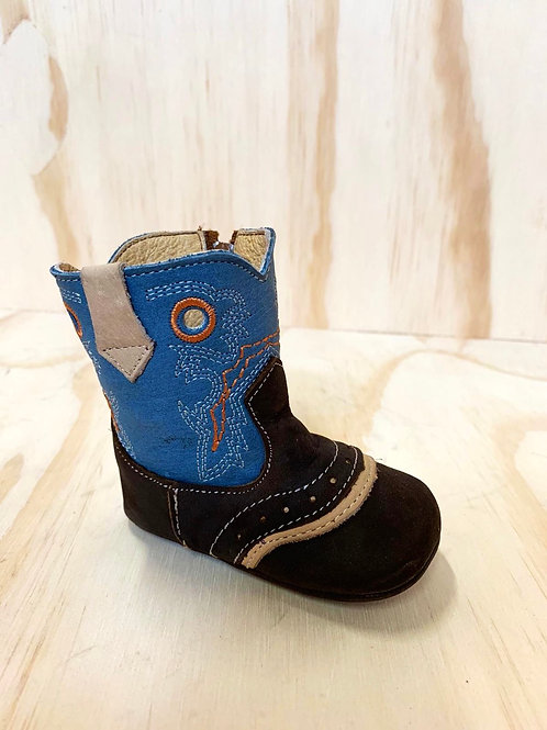 Seths leather baby boots