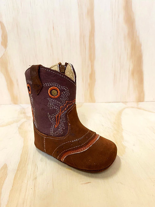 Unisex baby leather boots