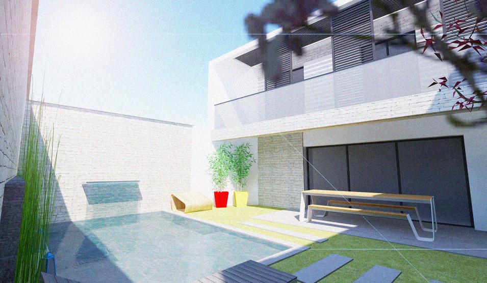 REHABILITATION / MAISON INDIVIDUELLE / HAUSELMANN ARCHITECTURE / ARCHITECTE BORDEAUX / EXTENSION / SURELEVATION / PISCINE / CAUDERAN