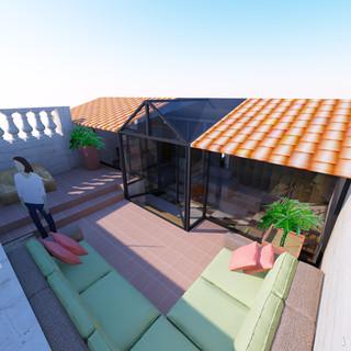 REHABILITATION / APPARTEMENT / HAUSELMANN ARCHITECTURE / ARCHITECTE BORDEAUX / BATI ANCIEN / PSMV / ARCHITECTE DES BATIMENTS DE FRANCE / TERRASSE