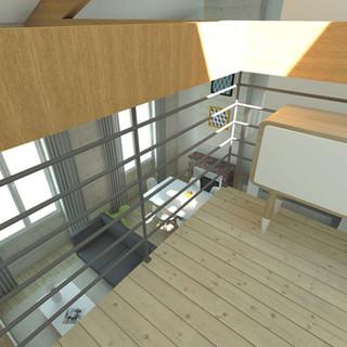 REHABILITATION APPARTEMENT / HAUSELMANN ARCHITECTURE / ARCHITECTE BORDEAUX / DECLARATION PREALABLE / MODIFICATION CHARPENTE / BORDEAUX BASTIDE