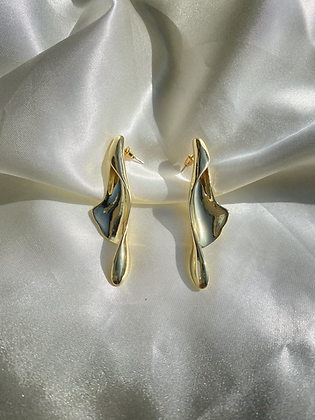 Gold Peel Earring