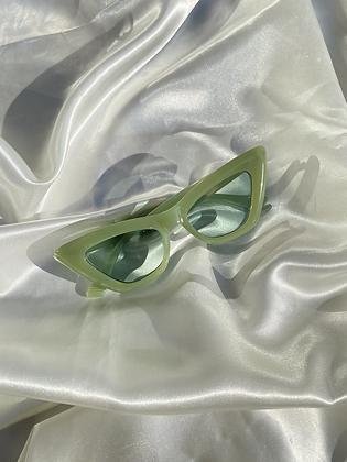 Green Cat Eye Sunnies