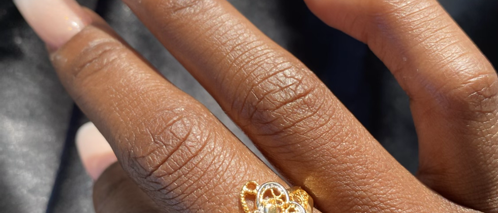 Butterfly Multi-Metal Ring