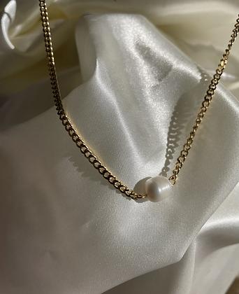 Single Pearl Cuban Necklace