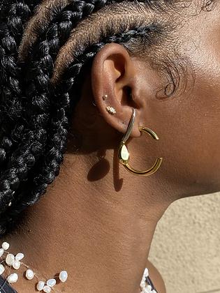 Two Tone Droplet Earring