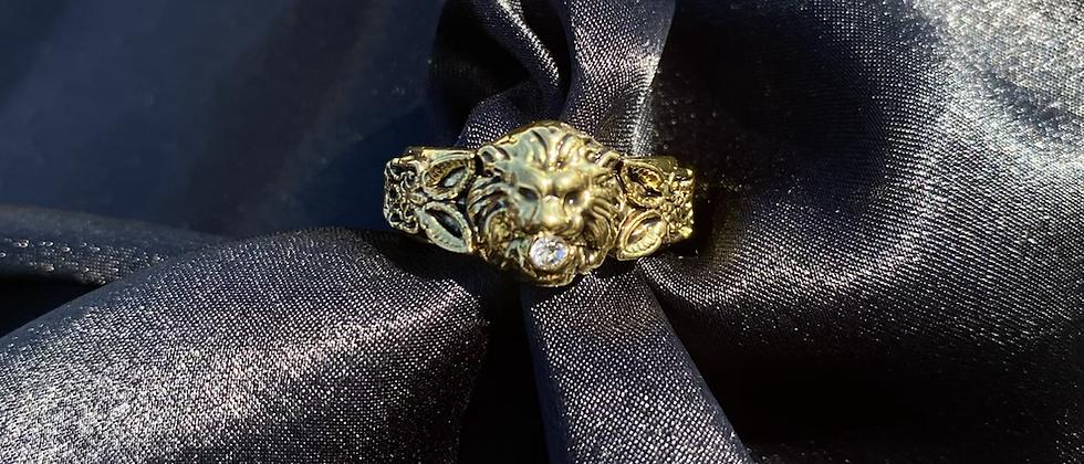Lion Band Ring