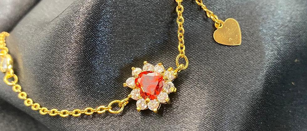 Iced Heart Bracelet