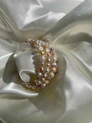 Spiral Multi Pearl Bracelet
