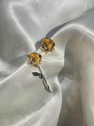 Multi Metal Rose Earring