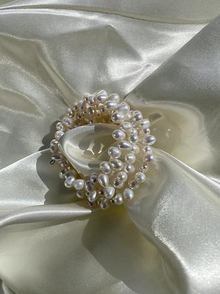 Spiral Cream Bracelet