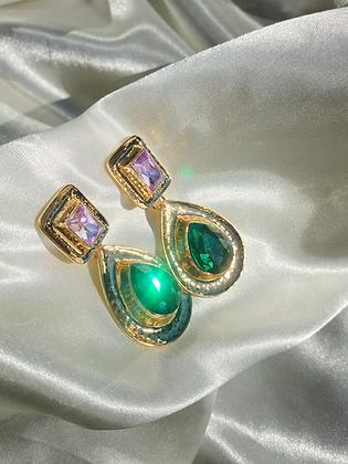 Mosaic Gem Earring